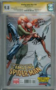 Amazing Spider-man  #700 Midtown Variant CGC 9.8 Signature Series Signed x4 Stan Lee Campbell Romita